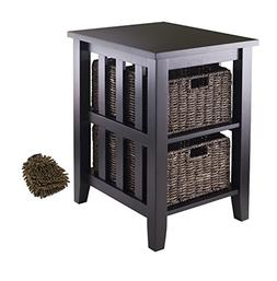 Winsome Morris Side Table, 2-Foldable Baskets  w/ Bonus: Pre