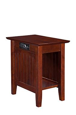 Atlantic Furniture Nantucket Chair Side Table with USB Charg
