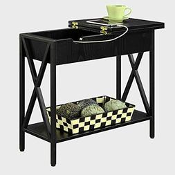 Narrow End Table With Storage For Living Room or Bedroom For