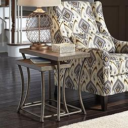 Signature Design by Ashley Nartina 2 Piece Nesting End Table