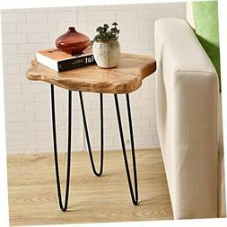 Natural Edge End Table, Wood Side Table, Nightstand, Plant S