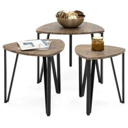 Nesting-Tables Living Room Coffee Table Sets of 3 Stackable