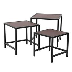 SONGMICS Nesting Tables, Industrial 3-Piece Side End Table S
