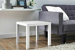 NEW Mainstays Parsons Square End Table - White