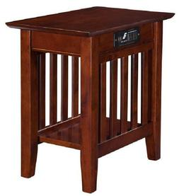 Atlantic Furniture AH13214 Mission Side Table Rubber Wood, W