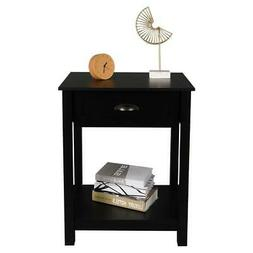 Nightstand Bed Table Sofa End Accent Side Table Morden Woode