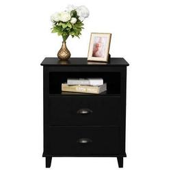 Nightstand Bedside End Table Bedroom Side Stand Accent Moder
