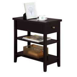 Nightstand Bedside Table Sofa Side End Table with Double She