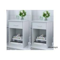 Set of 2 Nightstand MDF End Tables Pair Bedroom Table Furnit