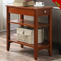 Nightstand End Table Bedroom Bedside Furniture 2 Shelves And