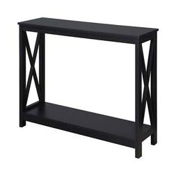 Convenience Concepts Oxford Rectangular Console Table in Bla