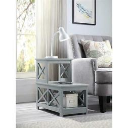 Oxford Two Step Chairside End Table in Gray