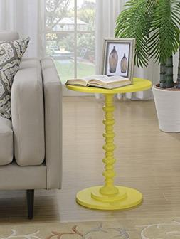 Convenience Concepts Palm Beach Accent End Table, Yellow