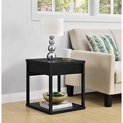 Parsons End Table with Drawer - Finish: Black