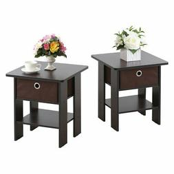 Furinno Petite Chair Side Table - Set of 2
