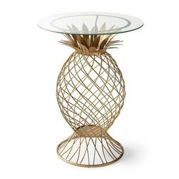 Grandin Road Pineapple Side Table Color Gold