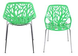 Creation Yusheng Plastic Modern Accent Dining Chairs Tree Ch