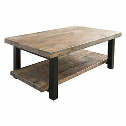 Pomona 42 Reclaimed Wood/Metal Coffee Table