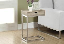 Monarch Specialties I 3031, Accent Table with a drawer, Chro