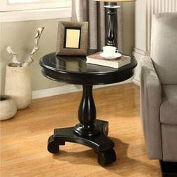 Roundhill Furniture Rene Round Pedestal Side Table