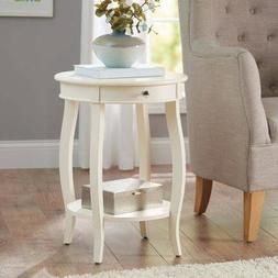 Better Homes and Gardens Round Accent Table with Drawer, Ivo