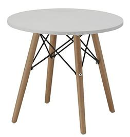 """Duhome 20"""" Round Coffee Table MDF Top Wooden Leg Stylish Eam"""