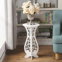 Round Side End Table Coffee Tea Table Lamp Stand Plant Rack
