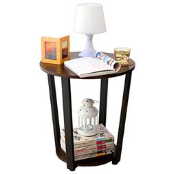 1208S Small Round End Table Side Table Sofa Table for Small