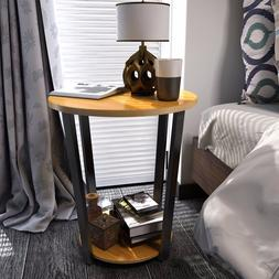 Round Storage Side end Table Deluxe Nightstand Couch End Tab