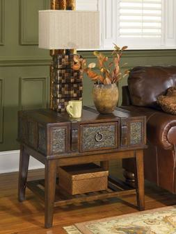Rustic Dark Brown McKenna End Table