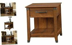 """Sauder Carson Forge Smartcenter Side Table, L: 22.09"""" x W: 2"""