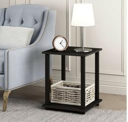 Set Of 2 End Table Side Table Nighstands W/ Stackable Shelf