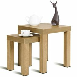 Set of 2 Nesting Coffee End Table Side Tables Living Room Ho