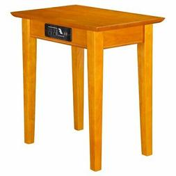 Atlantic Furniture Shaker Charger Chair Side Table in Carame