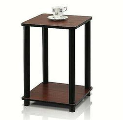 Side Table Chair End Wood Stand Living Room Dark Cherry Blac