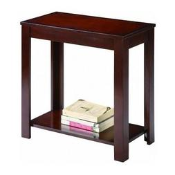 Side Table Chair End Wood Stand Living Room Espresso Nightst