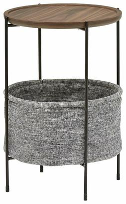 side table end round storage basket s