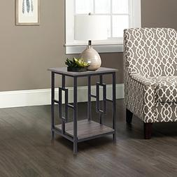 GIA Side End Table - Gray Ash Color - Black Frame - Sofa Hei