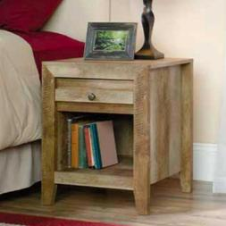 Sauder Side Table w/ Shelve & Drawer Living Room Decoration