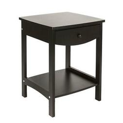 Simple Design Wood End Side Table Night Stand with Drawer Co