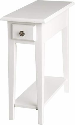 Small Chair Side End Table Storage Narrow Living Room Furnit