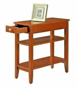 Small End Table Narrow Chair Side Storage Living Room Furnit