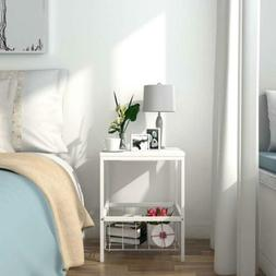 Lifewit Small Nightstand Bedside Table with Storage Basket,