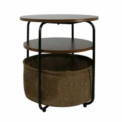 Small Round End Side Living Room Coffee Table Bedroom Storag