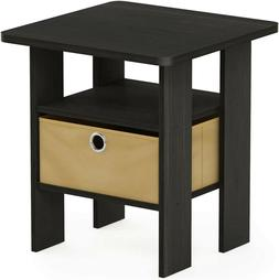 Small Side Table Furniture End Accent Storage Shelf Wood Esp