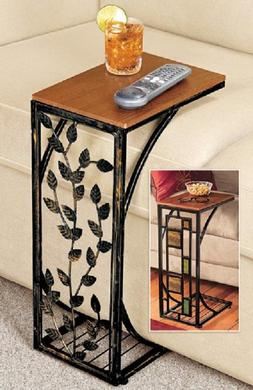 Side Table Drop Leaf or Geometric side Easy Storage Small Sp