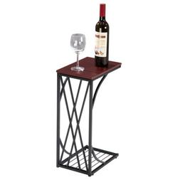 Sofa Side Table Mobile Snack Table/End Table for Coffee Lapt