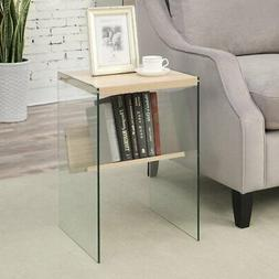 Convenience Concepts Soho Glass Sided End Table