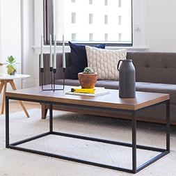 Nathan James 31101 Doxa Modern Industrial Coffee Table Wood