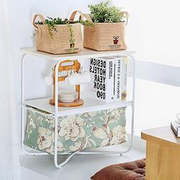 1208S 3 Tier Small Side Table Accent End Table with Storage